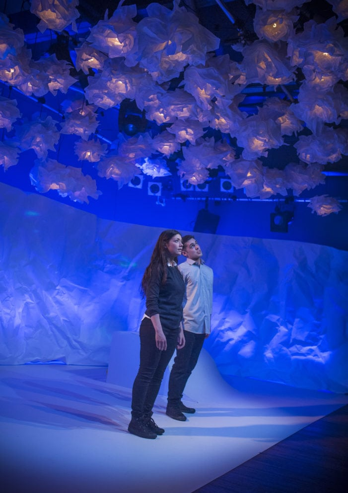 Heather Carroll & Dean Bone in The Terminal Velocity of Snowflakes written by Nina Berry at Live Theatre 8-17 December 2016 (2)