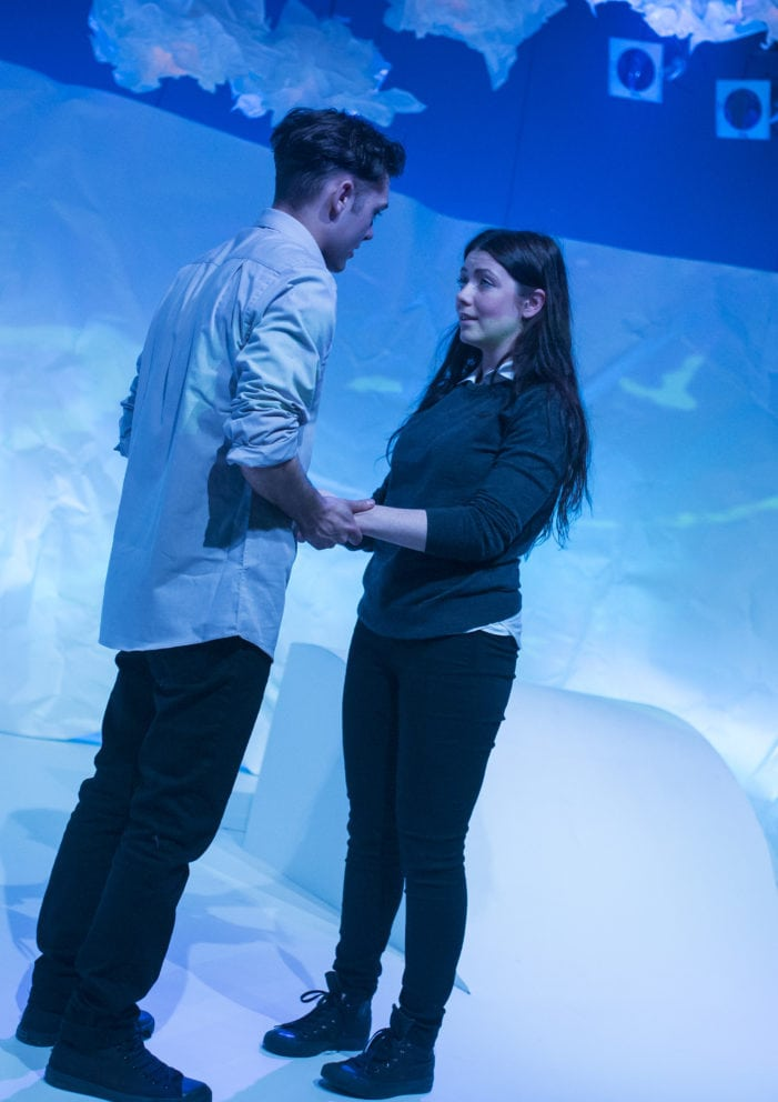 Heather Carroll & Dean Bone in The Terminal Velocity of Snowflakes written by Nina Berry at Live Theatre 8-17 December 2016 (5)